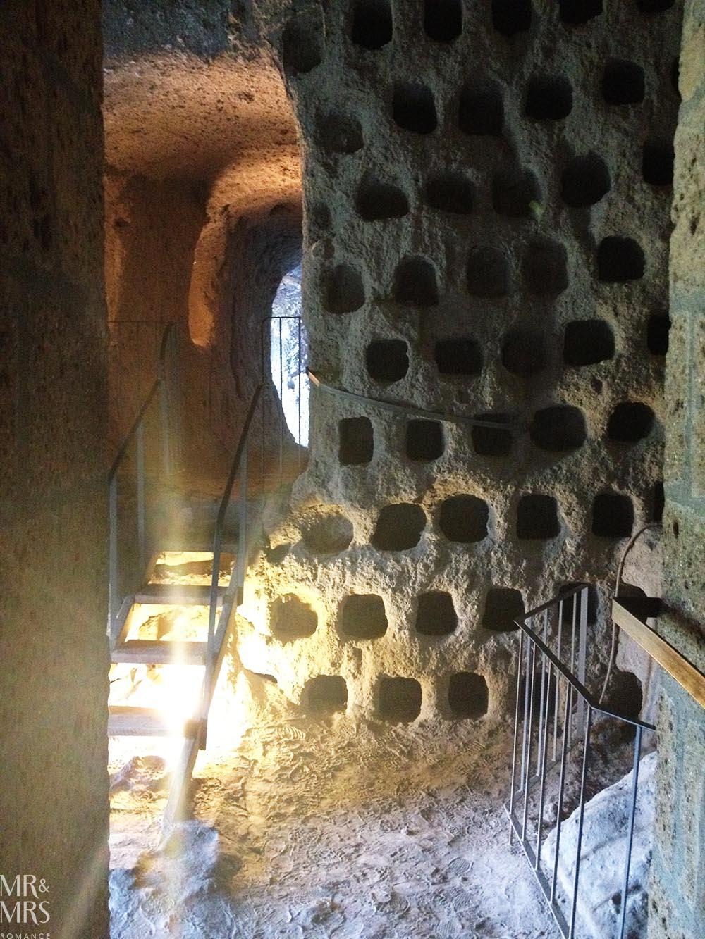Orvieto, Umbria, Italy - Pozzo della Cava Mr and Mrs Romance - pigeon holes