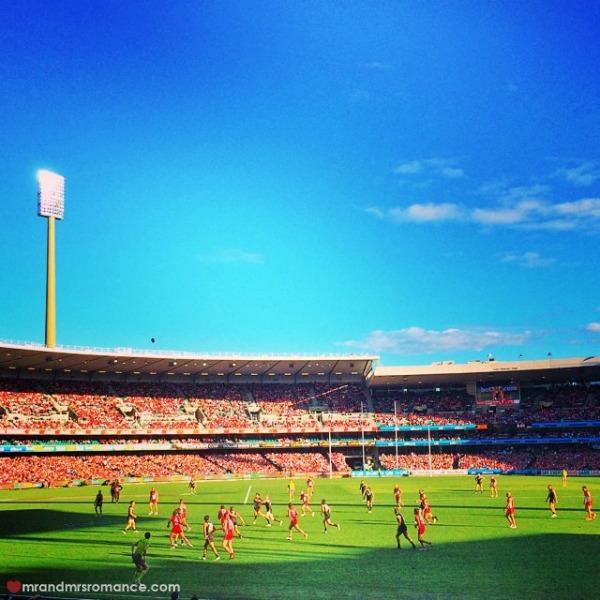 Mr & Mrs Romance - Insta diary - 11 Sydney Swans vs Port Adelaide Power