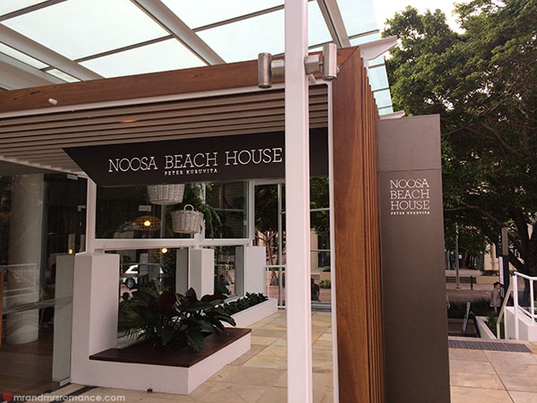 Mr and Mrs Romance - Noosa Beach House Restaurant exterior