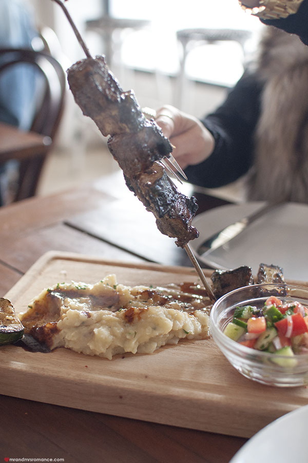 Mr and Mrs Romance - SHUK Bondi review - beef skewer