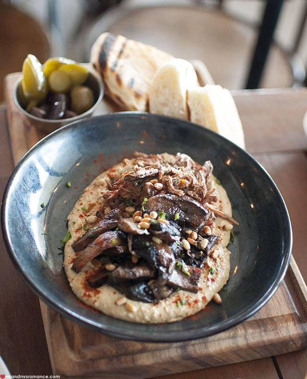 Mr and Mrs Romance - SHUK Bondi review - hummus and lamb platter