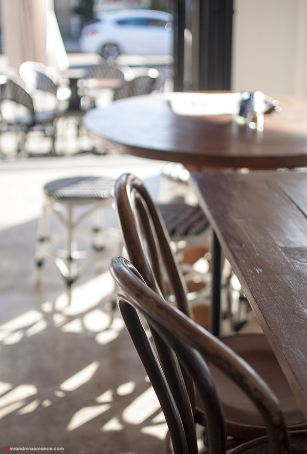 Mr and Mrs Romance - SHUK Bondi review - seating