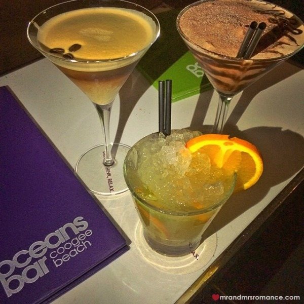 Mr & Mrs Romance - Insta diary - 7 cocktails at Oceans