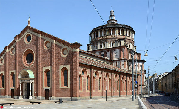 Mr and Mrs Romance - Best things to do in Milan Italy - Santa Maria Delle Grazie