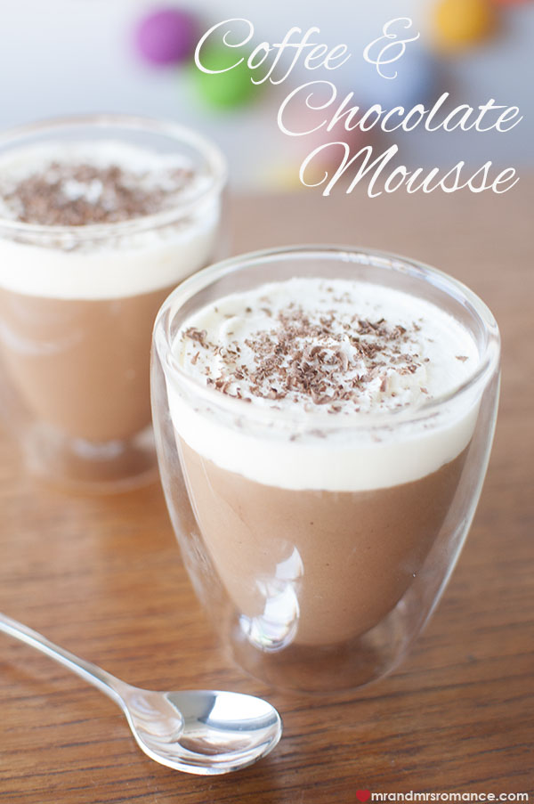 Mr and Mrs Romance - Coffee choc mousse recipe