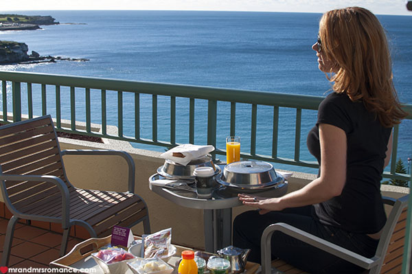 Mr and Mrs Romance - Coogee Staycation room service