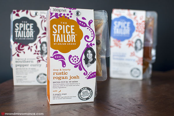 Mr and Mrs Romance - Food finds - Spice Tailor curry packs