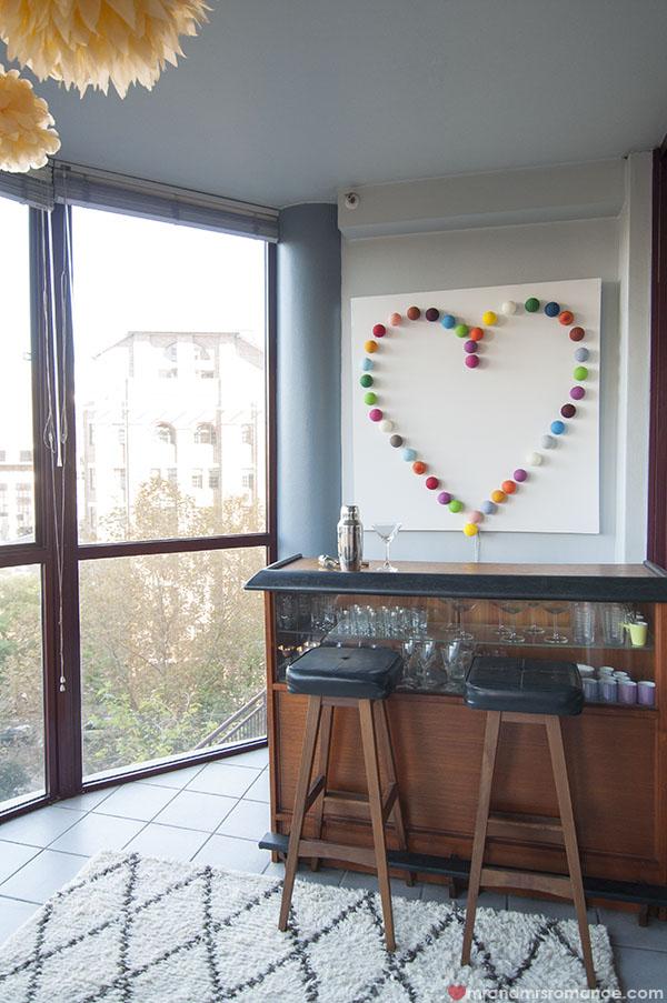 Mr and Mrs Romance - Home Tour - Bar room