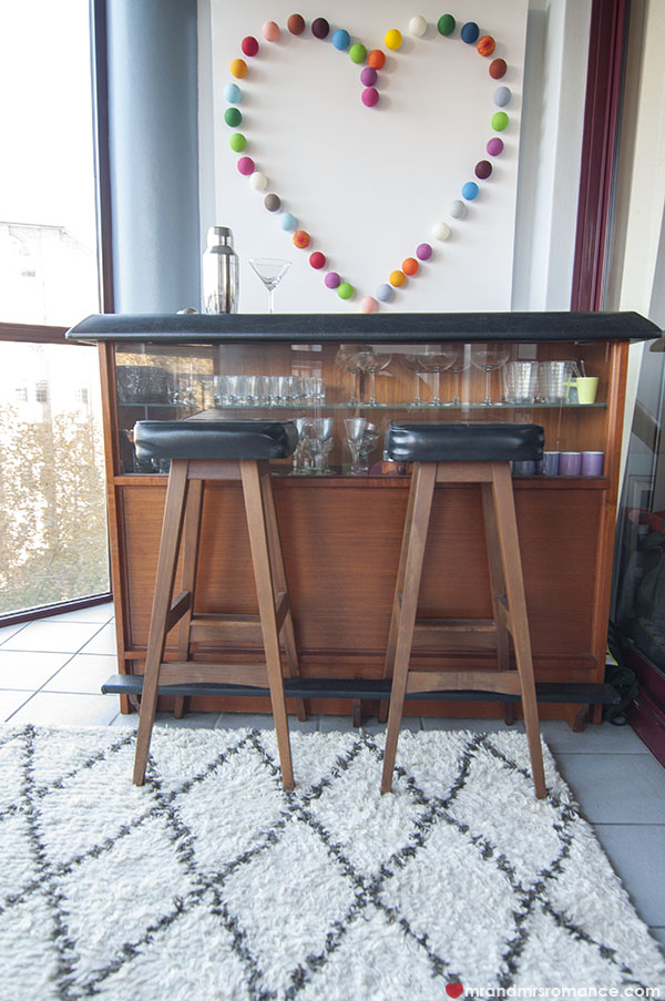 Mr and Mrs Romance - Home Tour - Our bar