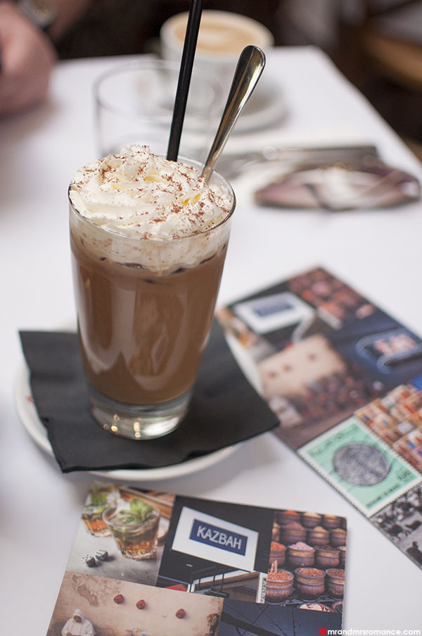 Mr and Mrs Romance - Kazbah Balmain - iced coffee