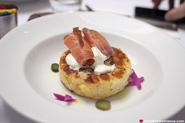 Mr and Mrs Romance - Kazbah Balmain - potato cake with smoked salmon