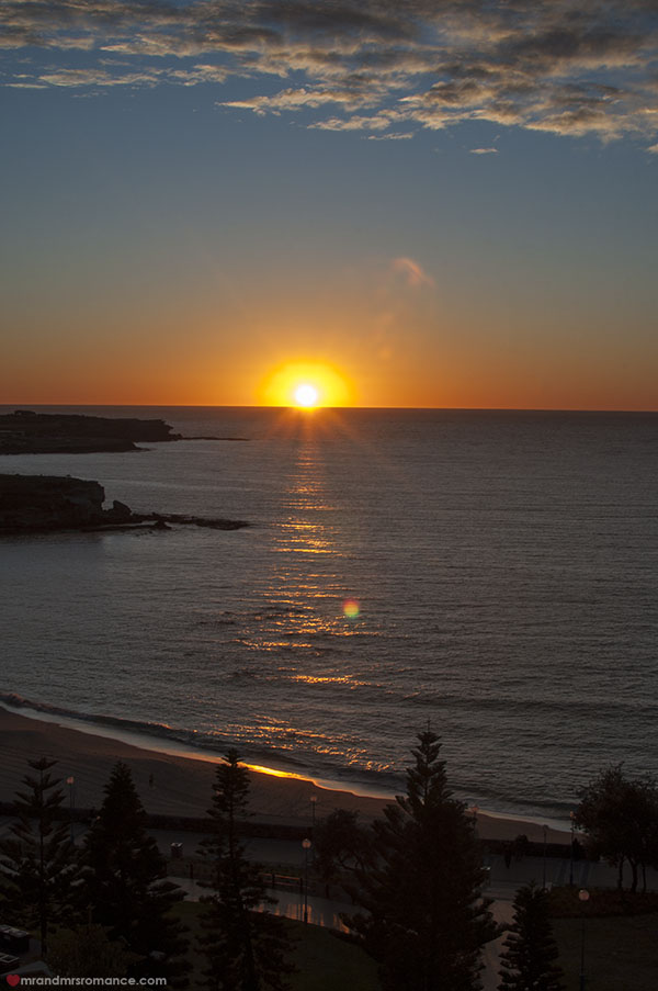 Mr and Mrs Romance - Winter escapes - Coogee Staycation - sunrise