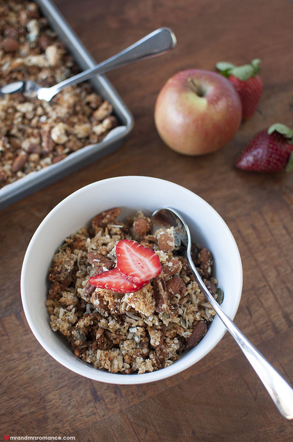 Mr and Mrs Romance - easy gluten free granola recipe