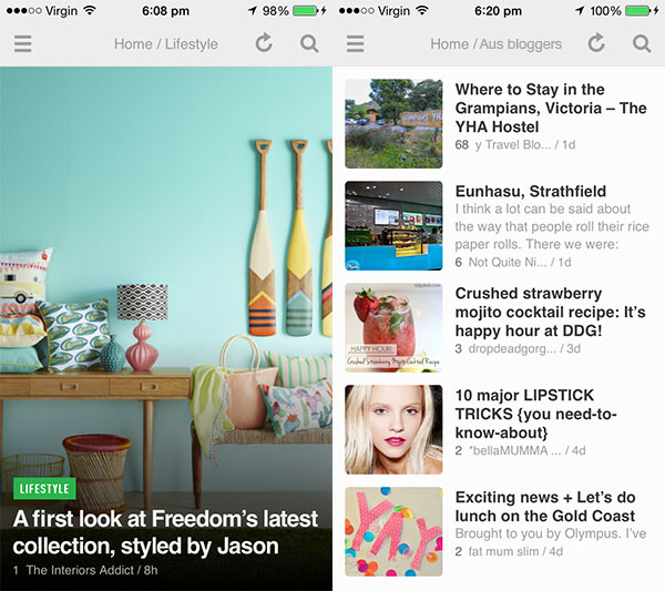 7 apps we use for blogging - Feedly