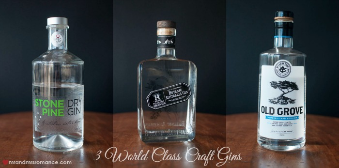 Mr & Mrs Romance - Friday Drinks - 3 World Class Gins