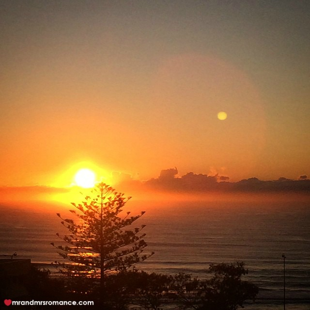 Mr & Mrs Romance - Insta Diary - 10 our final sunrise on the Gold Coast