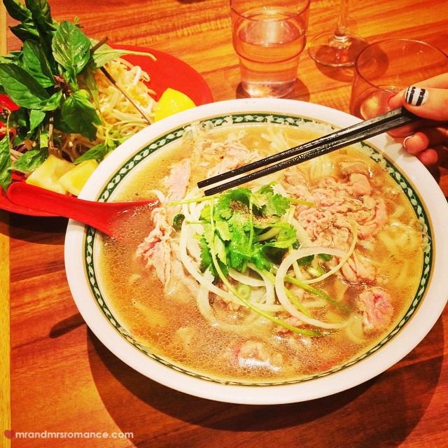 Mr & Mrs Romance - Insta Diary - 3 Marickville beef pho with refoil guys