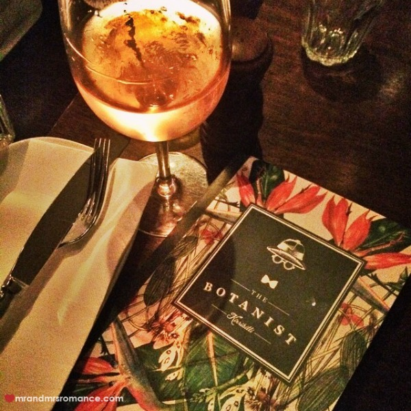 Mr & Mrs Romance - Insta Diary - 5 drinks at the Botanist