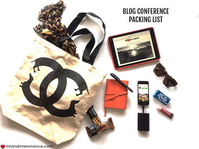 Mr and Mrs Romance - What to pack for a blog conference - She said