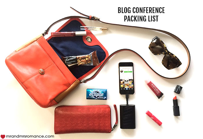 Mr and Mrs Romance - What to pack in your bag for a blog conference - She said
