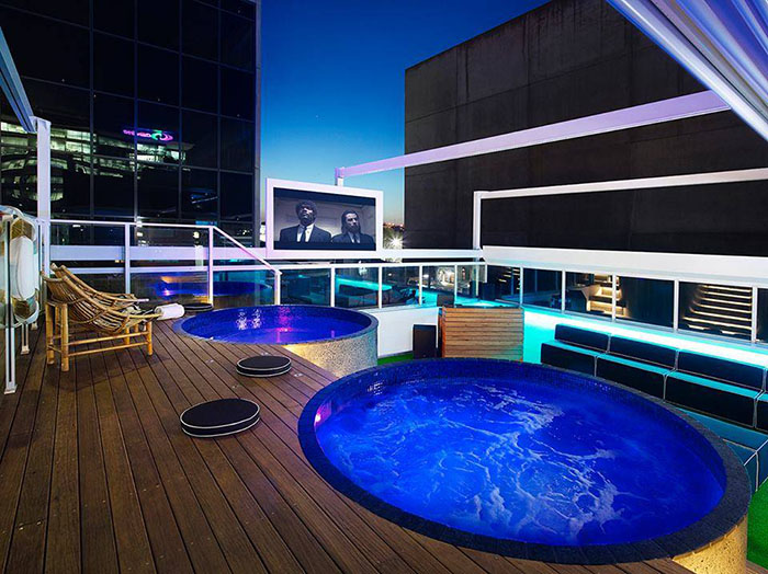 Limes hotel and rooftop cinema