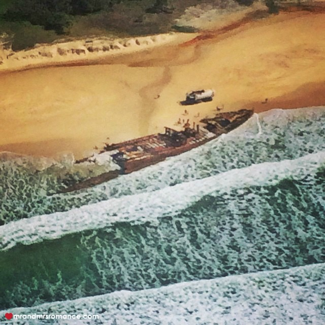 Mr & Mrs Romance - Insta Diary - 3 Fraser's wreck from above