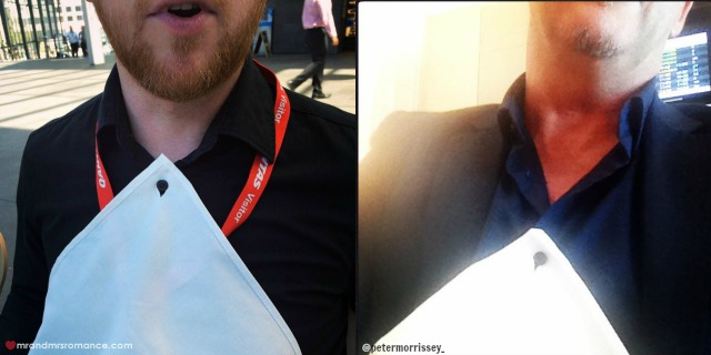 Mr & Mrs Romance - Insta Diary - 5 Qantas lunch - and a stroke of P Morrissey genius