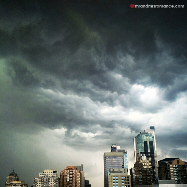 Mr & Mrs Romance - Insta Diary - 9 Sudden storm over Sydney