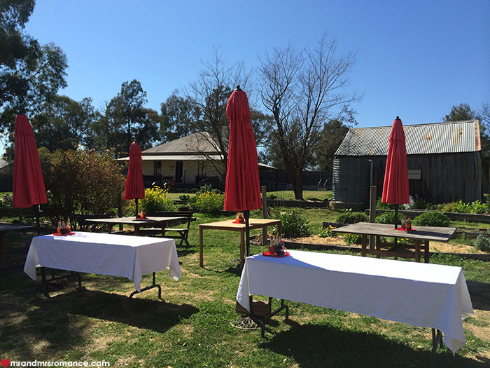Mr and Mrs Romance - 29 Nine 99 Rylstone NSW - garden tables