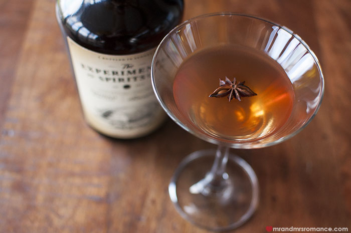 Mr and Mrs Romance - Bacon Bourbon Manhattan cocktail