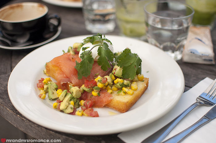 Mr and Mrs Romance - Goblin cafe review - Smoked trout poached eggs