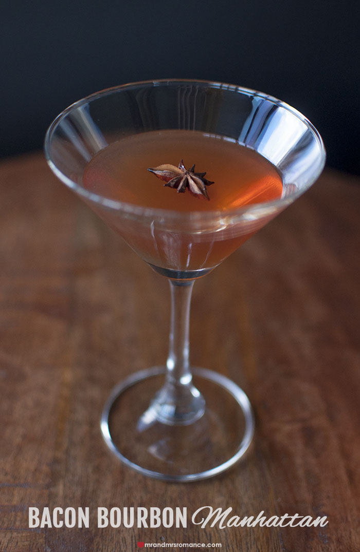 Mr and Mrs Romance - Our Bacon Bourbon Manhattan Cocktail