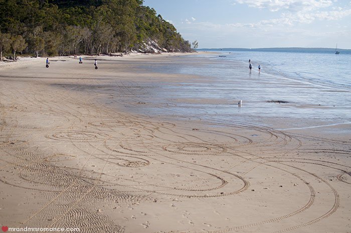 Mr and Mrs Romance - What to do on Fraser Island - Kingfisher Bay segway rides