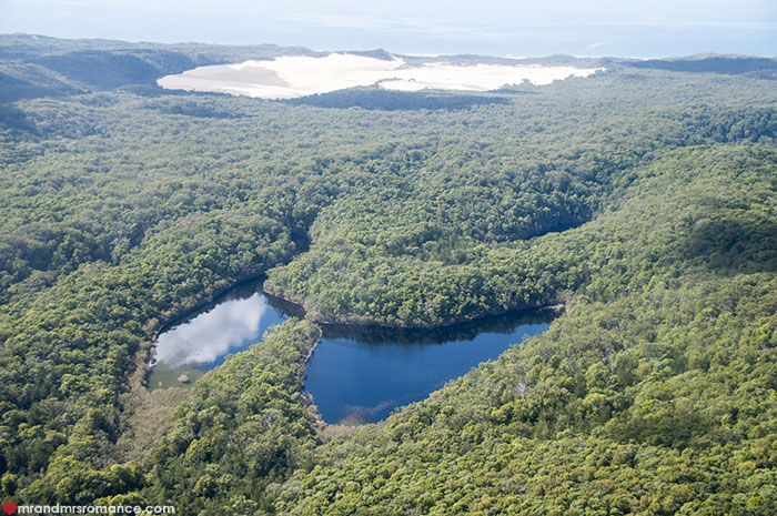 Mr and Mrs Romance - What to do on Fraser Island - scenic flights