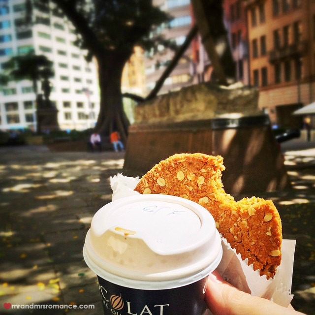 Mr & Mrs Romance - Insta Diary - 2 lunch cookie and coffee