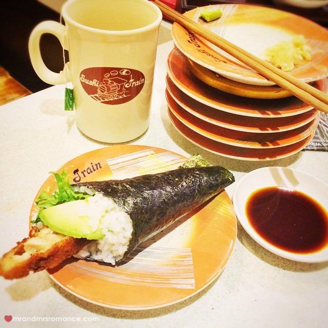 Mr & Mrs Romance - Insta Diary - 8 sushi train