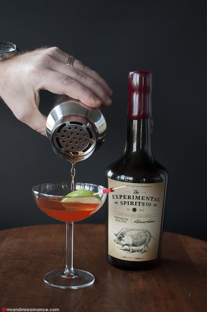 Mr and Mrs Romance - How to make the Little Pig Little Pig bacon bourbon cocktail