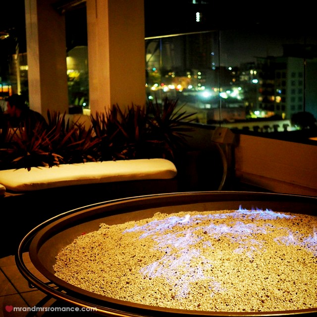 Mr & Mrs Romance - Insta Diary - 6 firepit at SD rooftop bar
