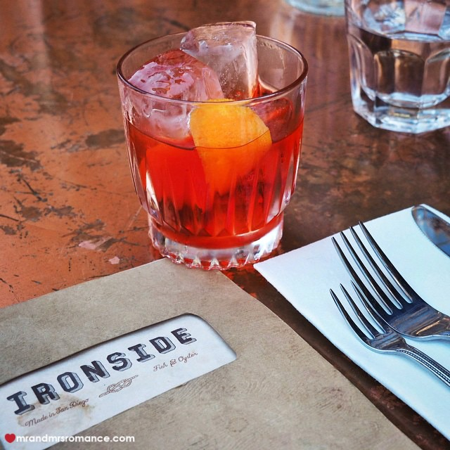 Mr & Mrs Romance - Insta Diary - 9 negroni at Ironside