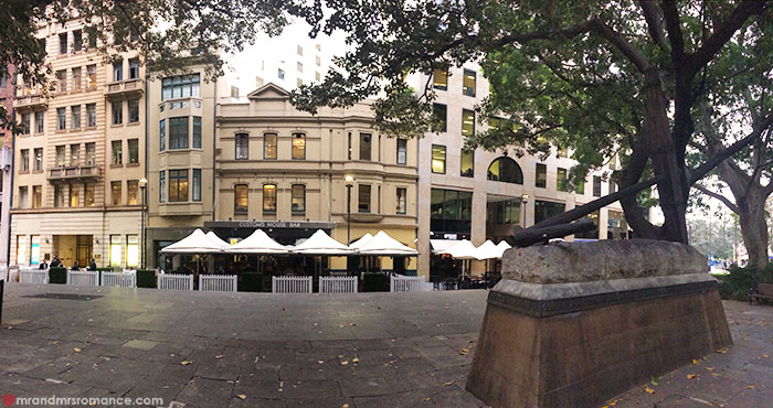 Mr and Mrs Romance - Where to eat in Sydney - Customs House Bar Sydney review