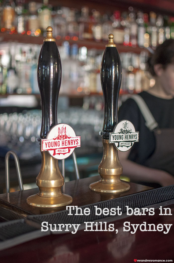 Mr and Mrs Romance - Where to drink in Sydney - Top 5 Surry Hills Bars