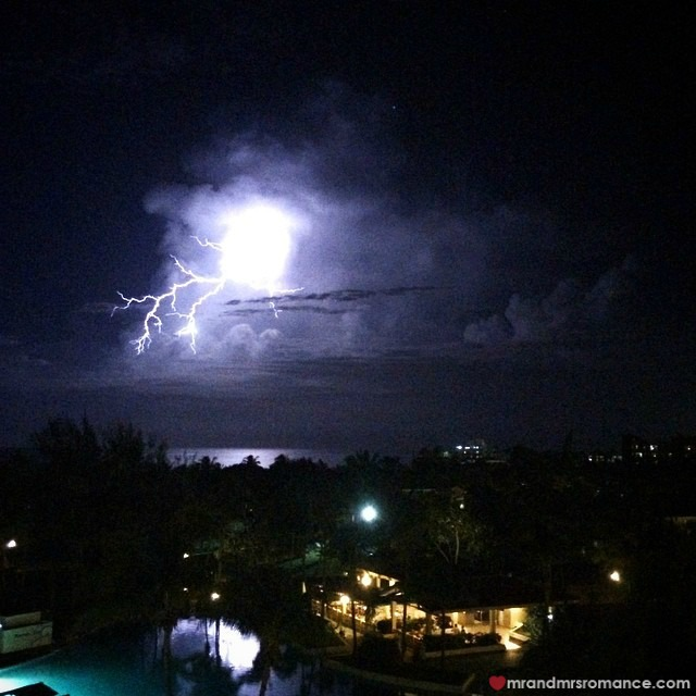 Mr & Mrs Romance - Insta Diary - 1a Lightning over Cuba