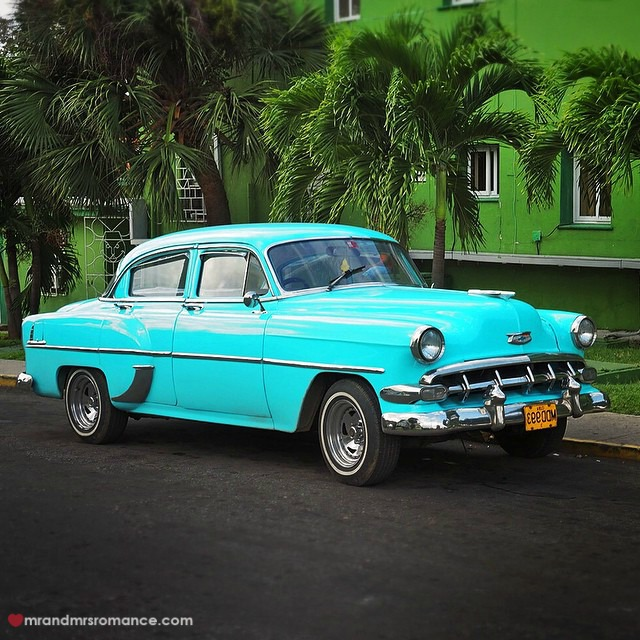 Mr & Mrs Romance - Insta Diary - 5a American car 54 Chevy