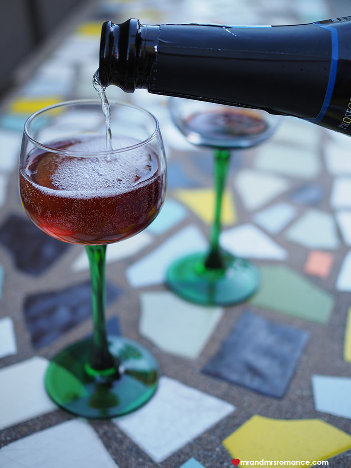 Mr and Mrs Romance - Retro Holiday cocktail - Kir Royale - Click through for the recipe