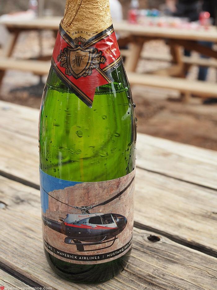 Grand Canyon heli tour - champagne gone