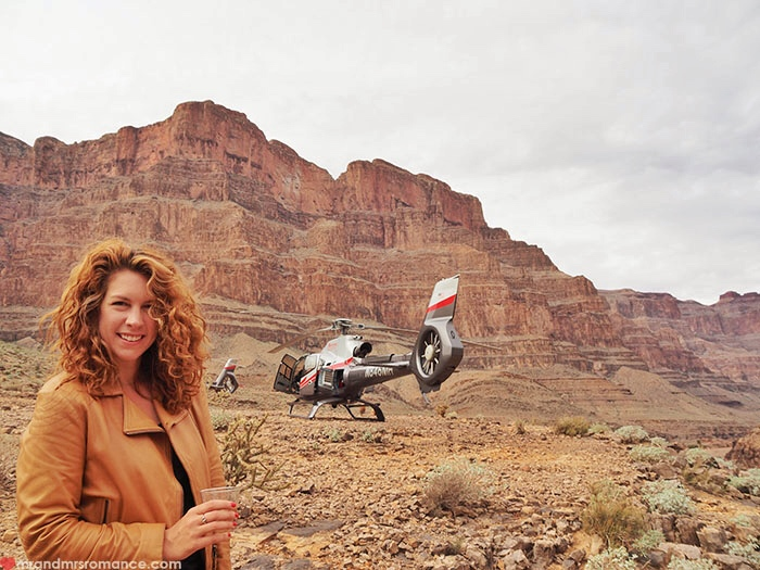 Grand Canyon heli tour - heli and her