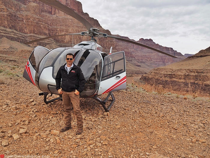 Grand Canyon heli tour - heli and Tony