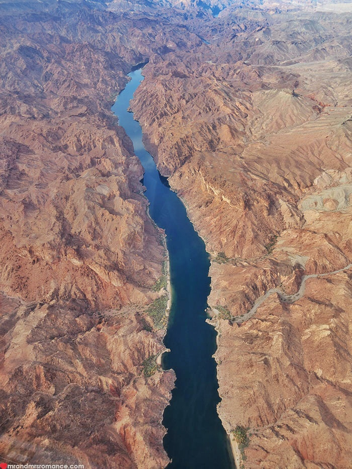 Grand Canyon heli tour - a long way down the river