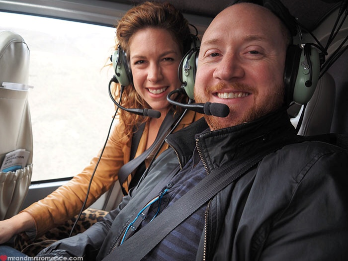 Grand Canyon heli tour - us in the chopper