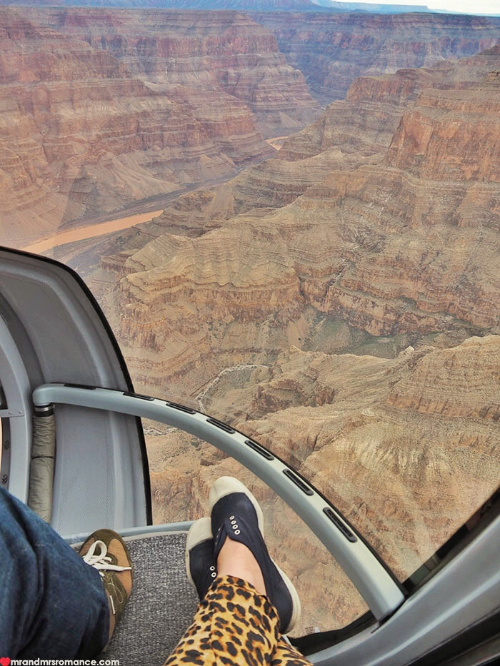 Grand Canyon heli tour - the view down
